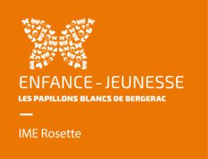 Logo Enfance Jeunesse IME Rosette Papillons Blancs de Bergerac